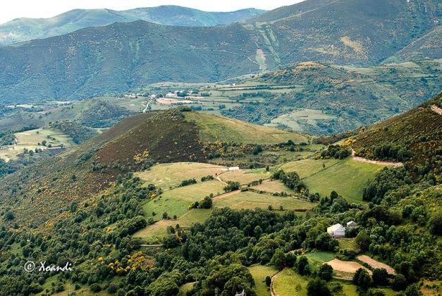 Vista desde O Cebreiro (Galicia)